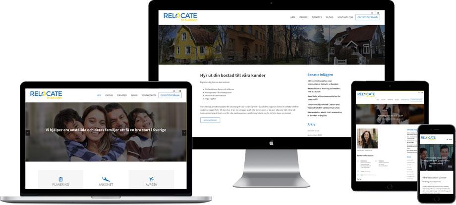 En modern hemsida