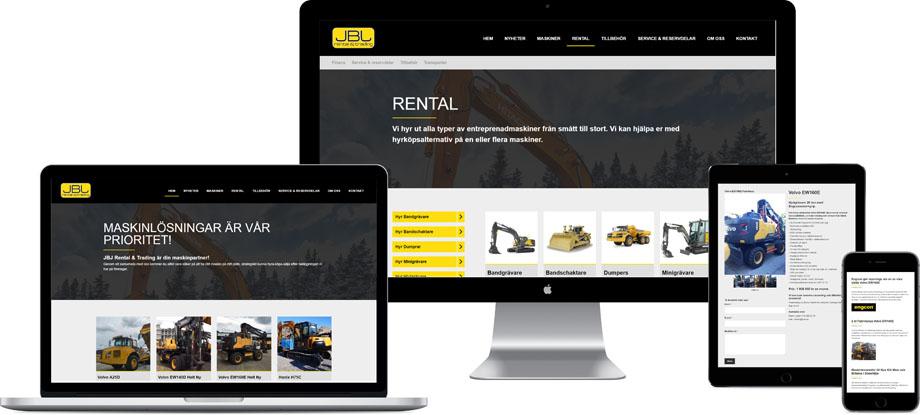 Exempel på responsiv hemsida