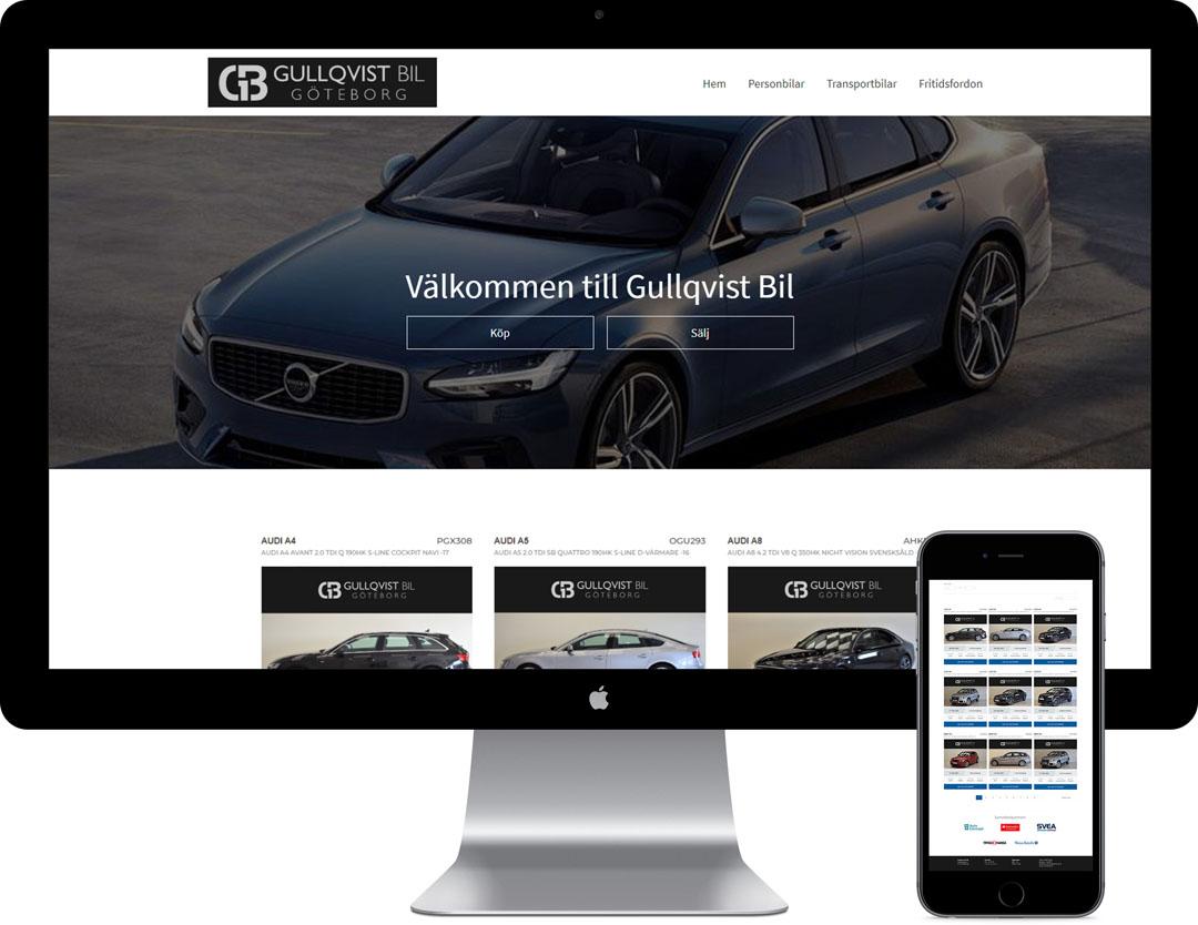 snygg hemsida till företaget