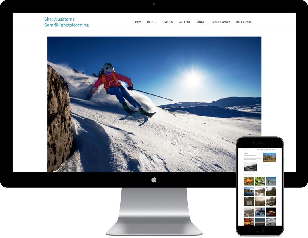 Exempel på snygg hemsida.